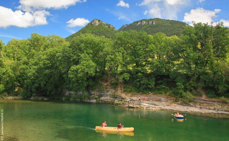 Canoe sur le Tarn, Aveyron ©T.Lambalin/FAHPA12