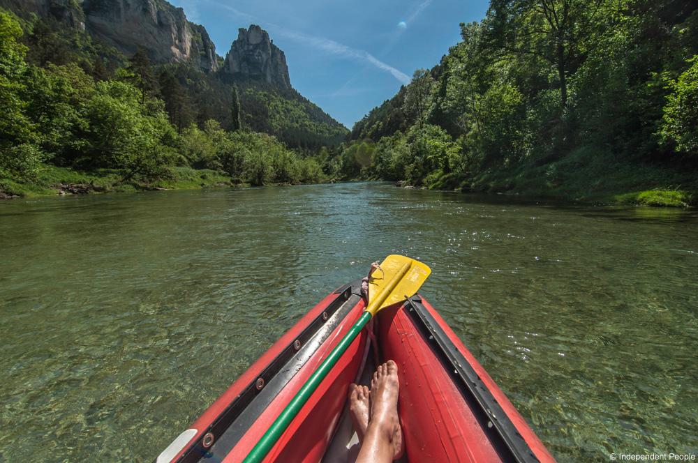 Rafting à deux dans les gorges du Tarn © Independent People