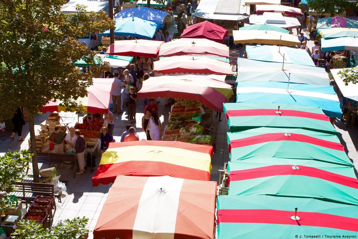 Marché de Rodez © J. Tomaselli/Tourisme Aveyron
