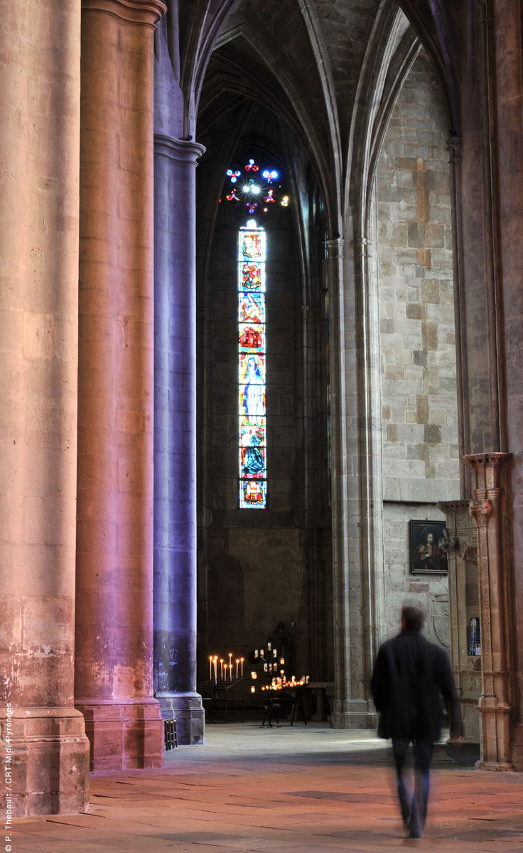 Intérieur Cathédrale de Rodez, Aveyron © P. Thebault/CRT Midi-Pyrénées