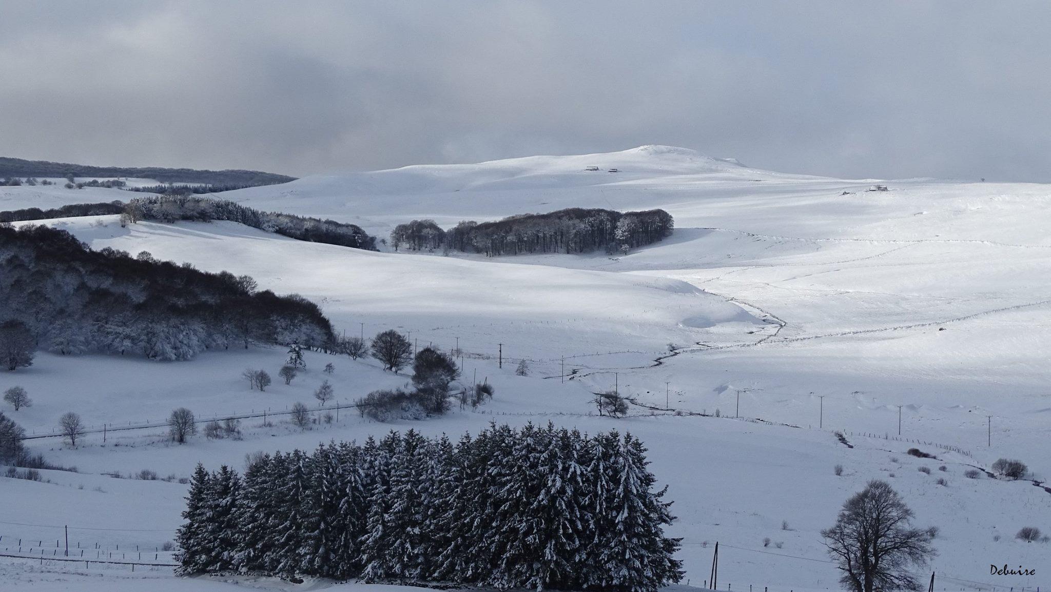 Neige sur l'Aubrac © Gitaubrac