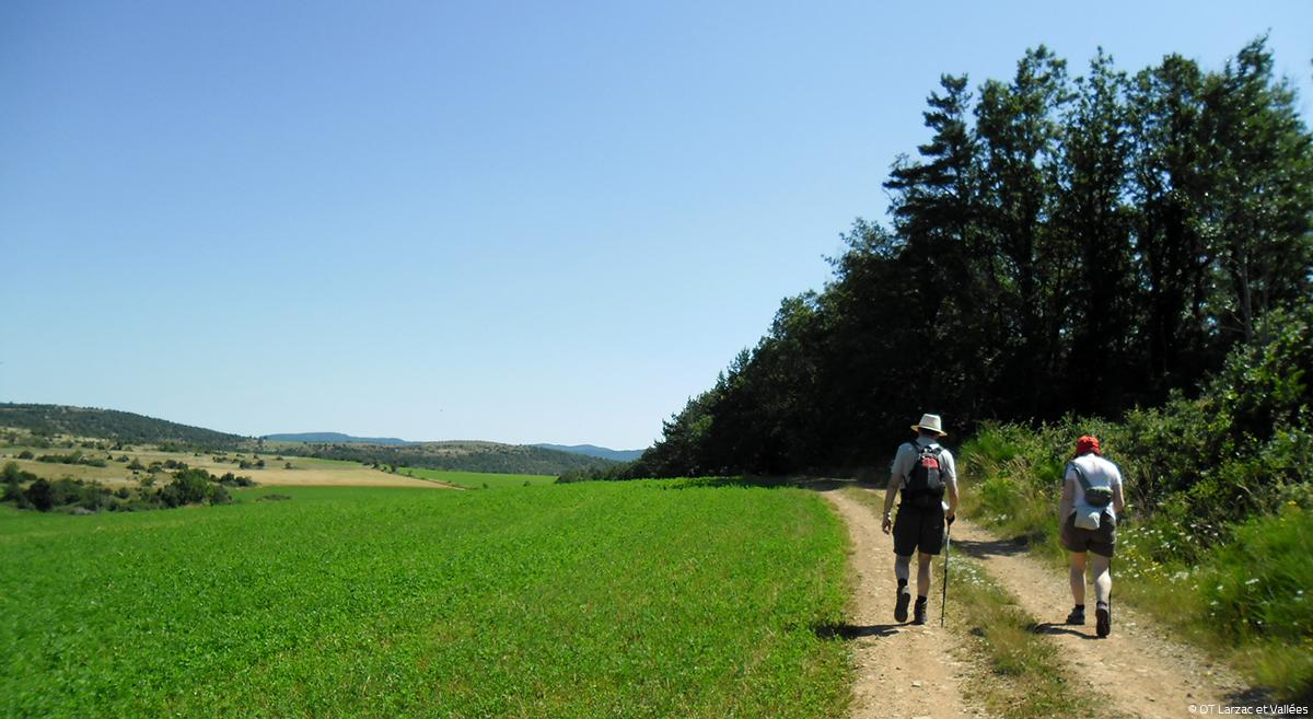 Randonneurs Nant © OT Larzac et Vallées
