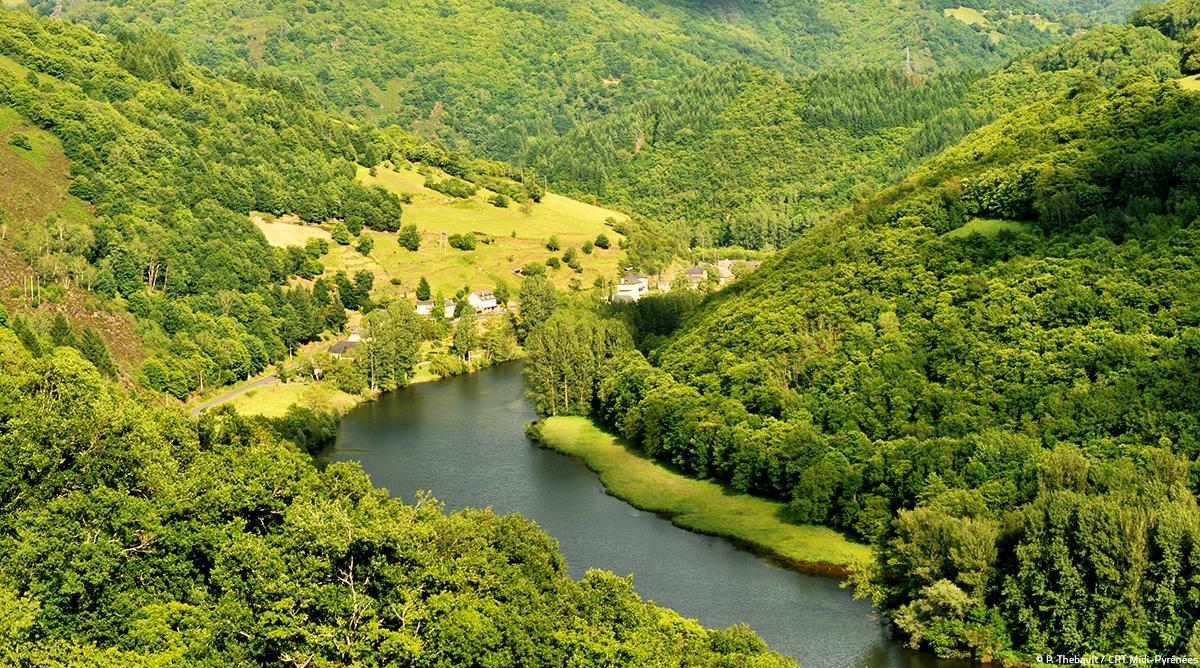 Vallée du Lot, Aveyron © P. Thebault / CRTMP