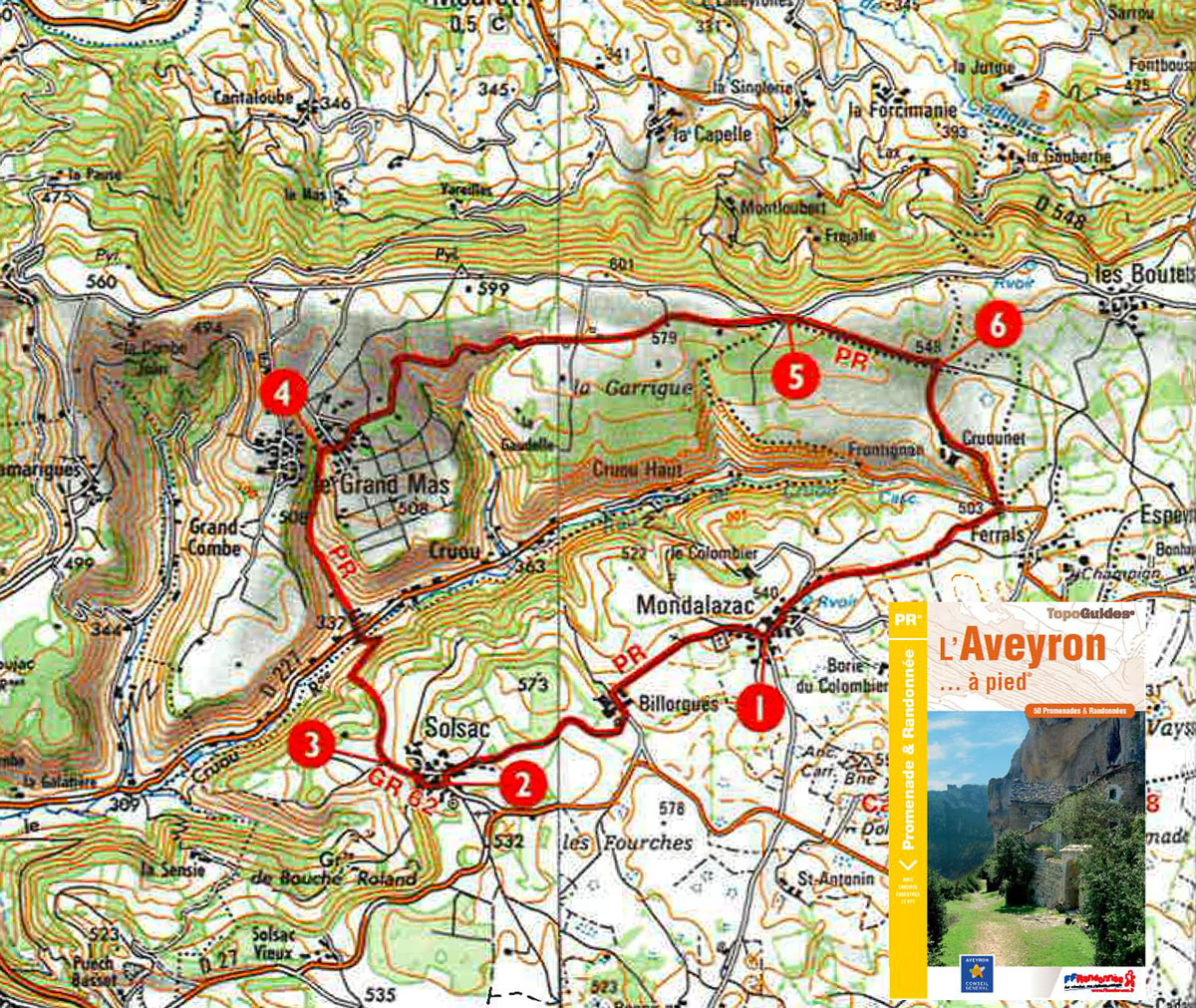 Carte parcours Mondalazac