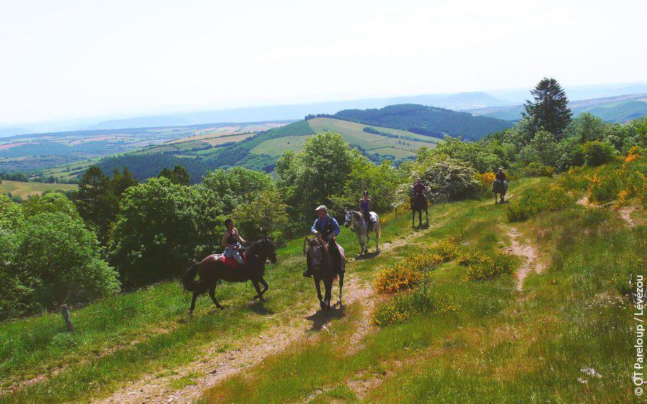 Équitation sur le Lévézou © OT Pareloup-Lévézou-Aveyron