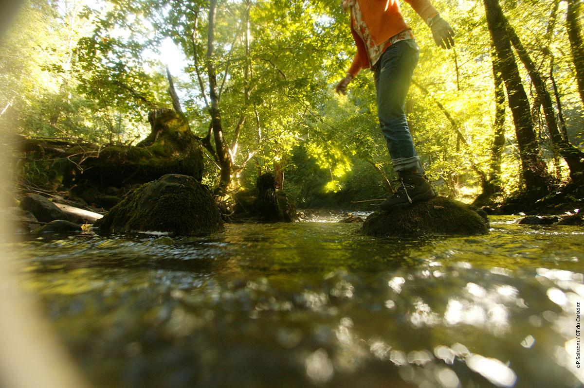 Brommat, au fil de l'eau © P. Soissons / OT Carladez