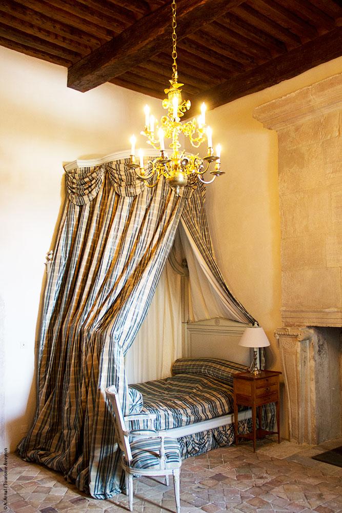 Chambre, Château de Bournazel, Aveyron © Anaïs Arnal / Tourisme Aveyron