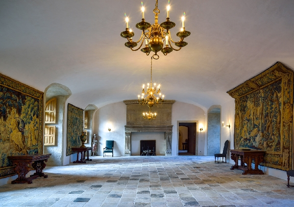 Intérieur du Château de Bournazel, Aveyron