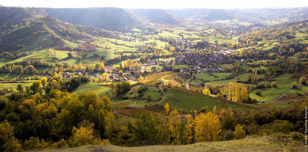 Clairvaux d'Aveyron en automne © A. Arnal