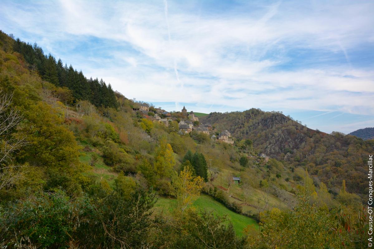 La Vinzelle à l'automne, Aveyron © A. Causse / OT Conques-Marcillac