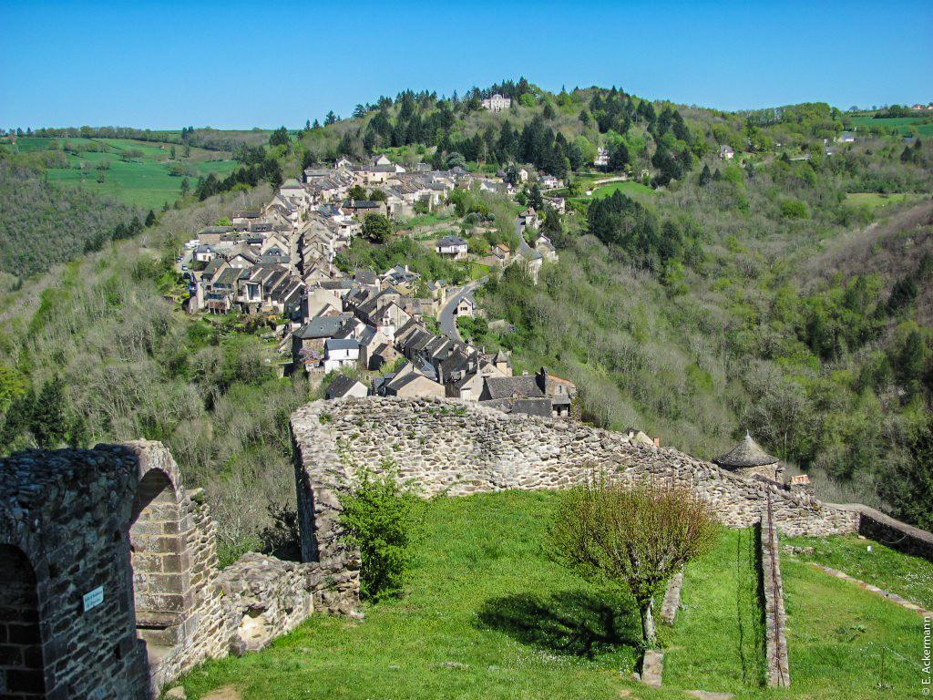 Najac, vu depuis la forteresse