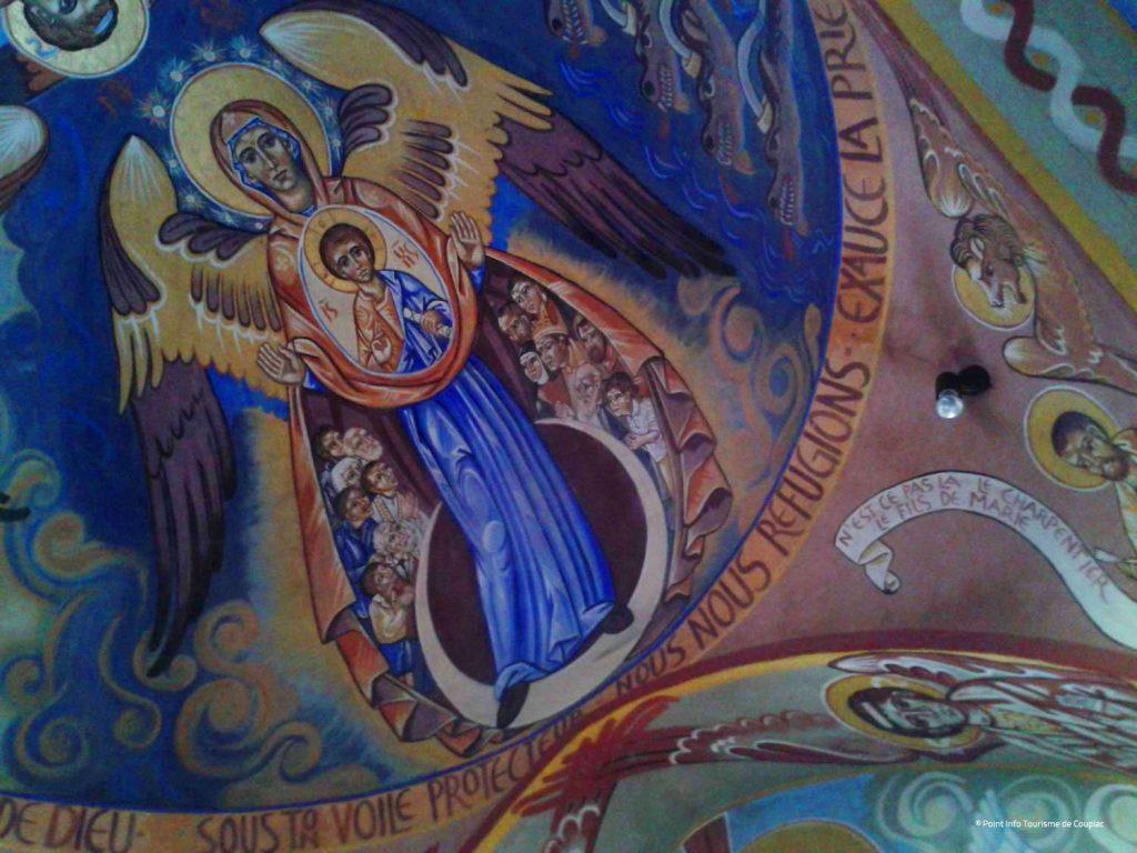 Chapelle du Saint Voile, Coupiac, Fresque de Nicolaï Greschny © Point Info Tourisme de Coupiac