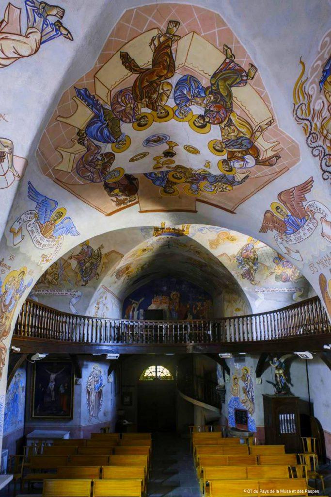 Chapelle Sixtine Rouergate, Saint Victor-et-Melvieu, Fresque de Nicolaï Greschny © OT Muse et Raspes