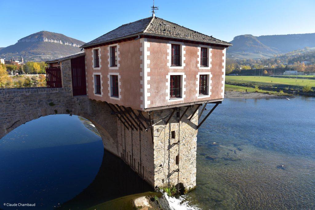 Le moulin du Pont Vieux Millau © Claude Chambaud
