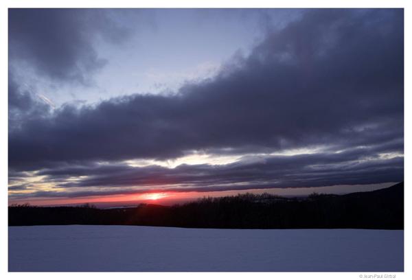 Coucher de soleil sur le plateau de l'Aubrac, Aveyron © Jean-Paul Girbal