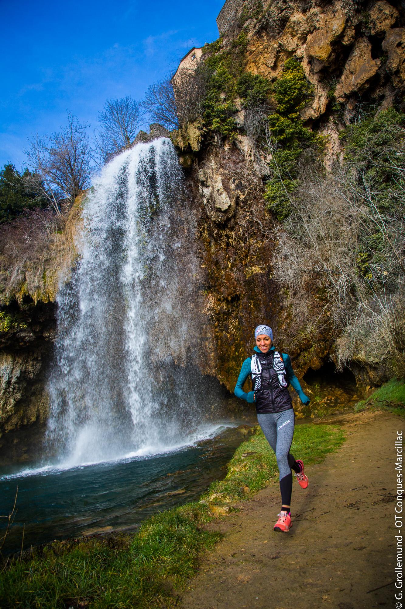 Terra Trail à la cascade de Salles-la-Source