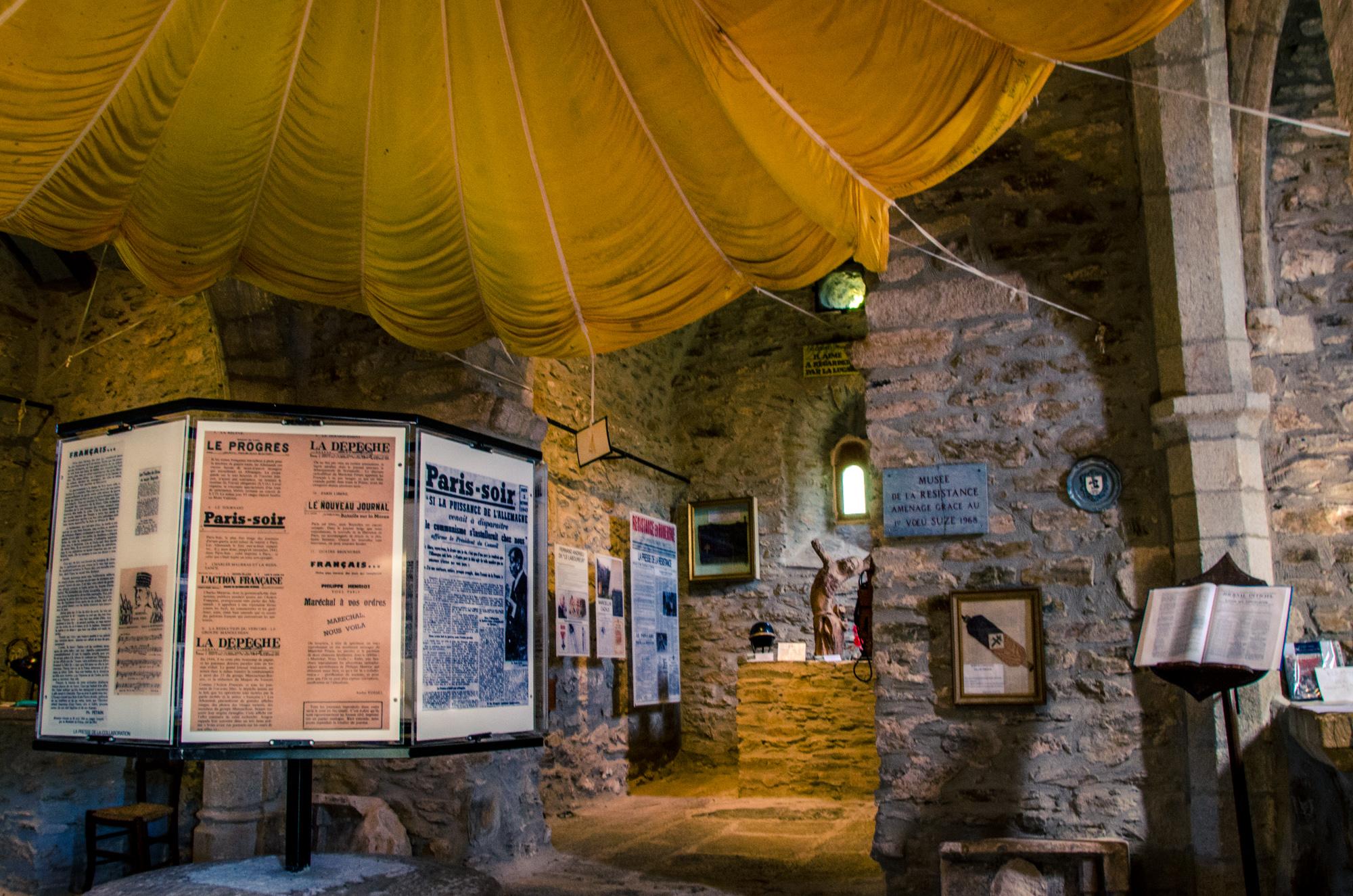 Musée de la résistance, chapelle de Villelongue © M. Hennessy - Tourisme Aveyron
