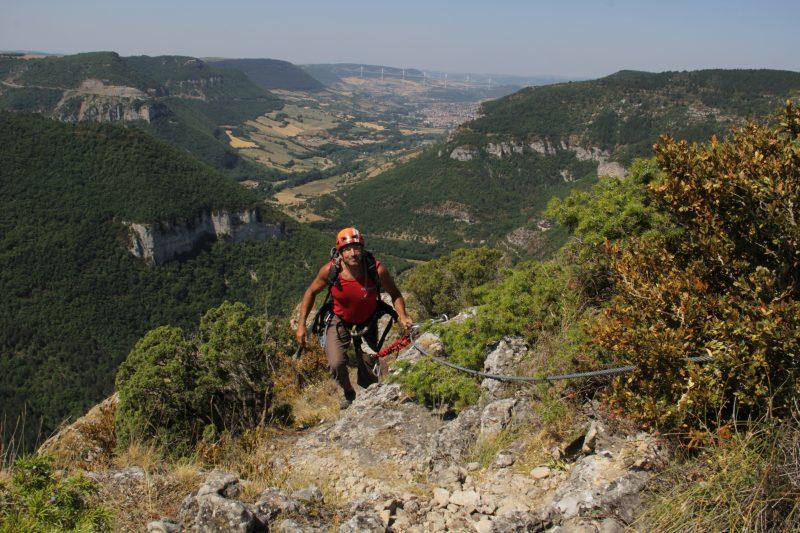 Via Ferrata au grand air en Aveyron